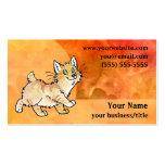 Cream Manx Cat Business Card - Fiery Orange