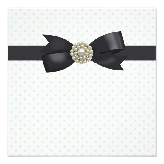 Cream Pearl Bow Black Tie Party and Event