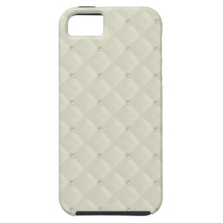 Cream Pearl Stud Quilted iPhone 5 Case