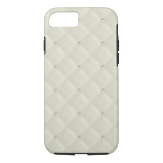 Cream Pearl Stud Quilted iPhone 7 Case
