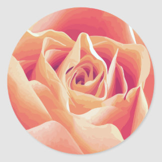 Cream Pink Rose Sticker