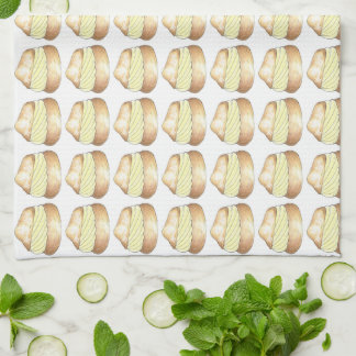 Cream Puff Puffs French Pastry Foodie Baking Towel