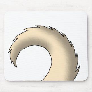 Cream Pug Dog Tail Mousepad