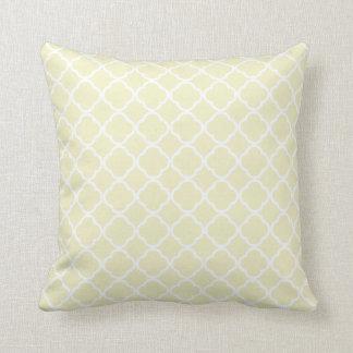 Cream Quatrefoil Throw Pillow