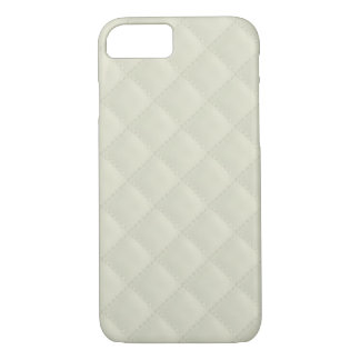 Cream Quilted Leather iPhone 8/7 Case