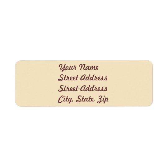 Cream  Return Address Sticker