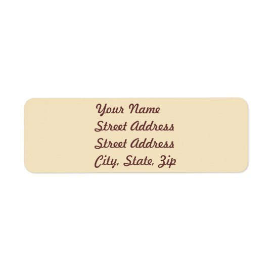 Cream  Return Address Sticker Return Address Label