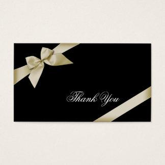 Cream Ribbon Thank You Minicard Business Card