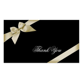 Cream Ribbon Thank You Minicard Pack Of Standard Business Cards