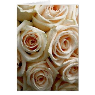 Cream Rose Bouquet - Customizable Invitation Greeting Card