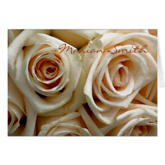 Cream Rose Bouquet Placecard Note Card