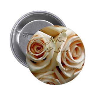 Cream Rose Bouquet - Round Button