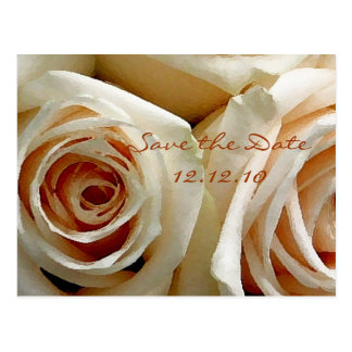 Cream Rose Bouquet - Save the Date Card Postcard