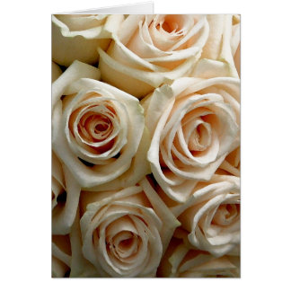 Cream Rose Bouquet - Thank You Note Card