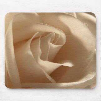 Cream Rose Photo Pretty Floral Flower Petals Bloom Mouse Mat