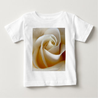 Cream Rose Wedding Photo Baby T-Shirt