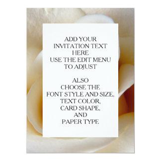 Cream Rose Wedding Photo 17 Cm X 22 Cm Invitation Card
