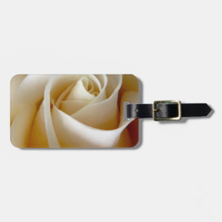 Cream Rose Wedding Photo Tag For Bags