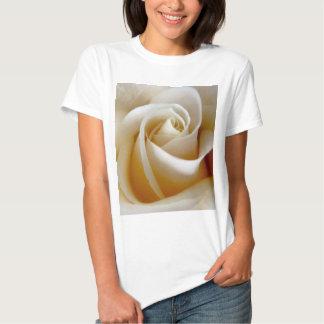 Cream Rose Wedding Photo Tee Shirt