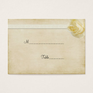 Cream Rosebud Table Place Card