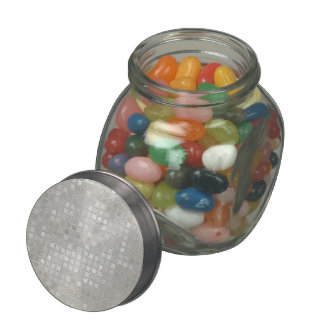 Cream Sequin Effect Glass Candy Jars