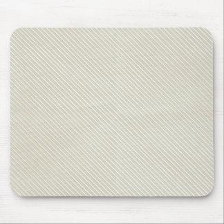 Cream Side Stripes Mousepads