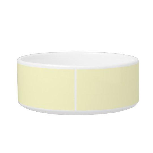 Cream Simple Single Colour Pet Food Bowl