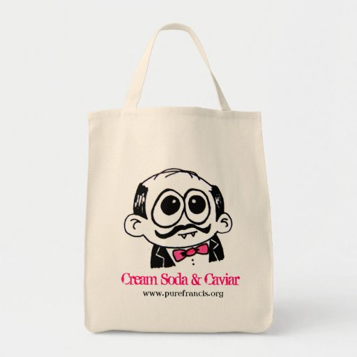 Cream Soda & Caviar Grocery Tote Canvas Bags