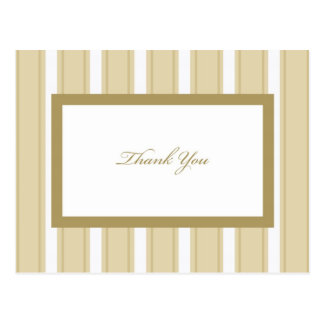 Cream Stripe Sympathy Thank You Postcard