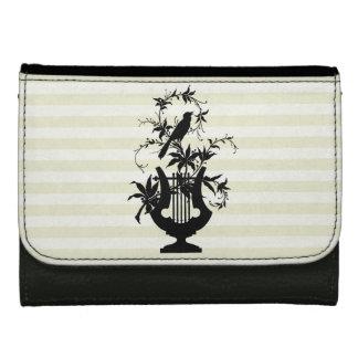 Cream-Stripes-Bird-Stylish-Wallets-Multi-Styles Leather Wallet For Women