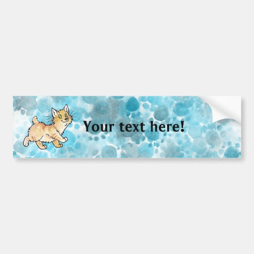 Cream Tabby Manx Kitty Bumper Stickers