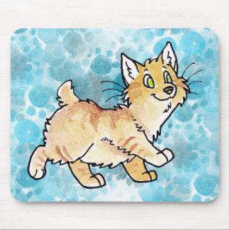 Cream Tabby Manx Kitty Mouse Pad