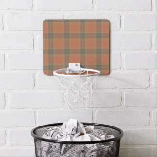 Cream Tartan Mini Basketball Goal Mini Basketball Hoop
