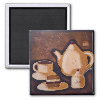 Cream tea magnet