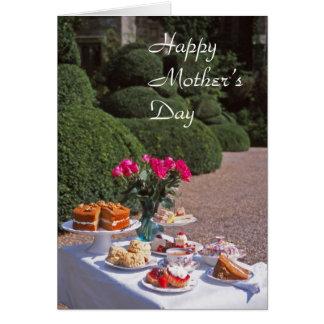 Cream tea mother's day card