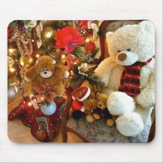Cream Teddy Bear Mouse Pad
