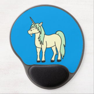 Cream Unicorn with Light Green Mane Gel Mouse Pad