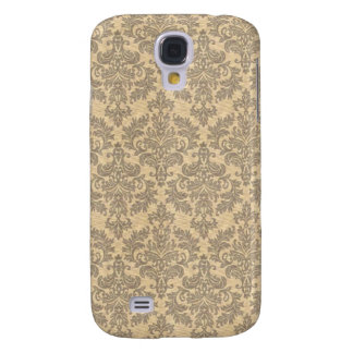 Cream Vintage Damask Samsung Galaxy S4 Covers
