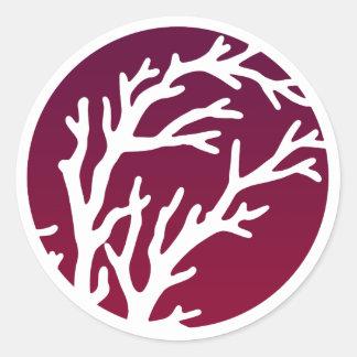 Cream Wheels Tree Round Sticker