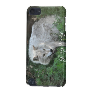 Cream White Grey Wolf Wildlife-Supporter Ipod Case