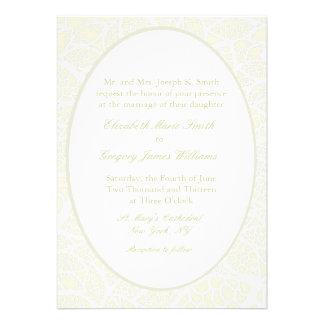 Cream White Lace Wedding Invitations