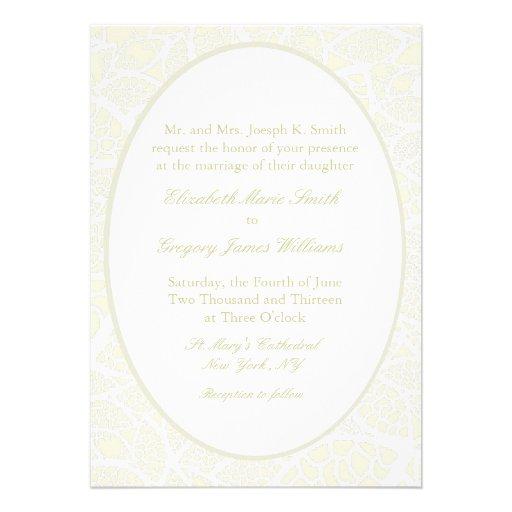 Cream&White Lace Wedding Invitations