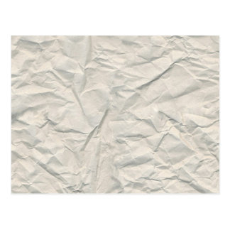 Cream Wrinkled Paper Texture Postcard