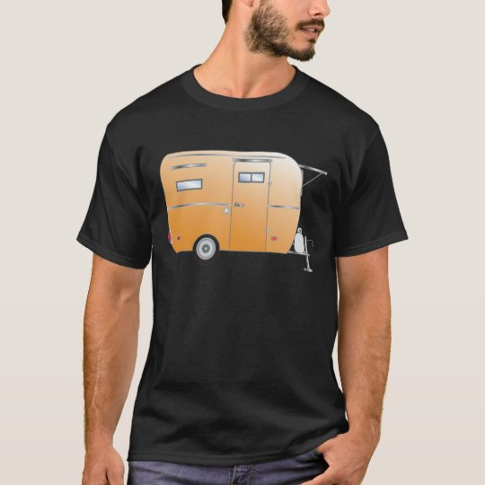 """Creamsicle"" The Boler Travel Trailer T-Shirt"