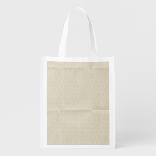 Creamy Creased Canvas background Reusable Grocery Bag