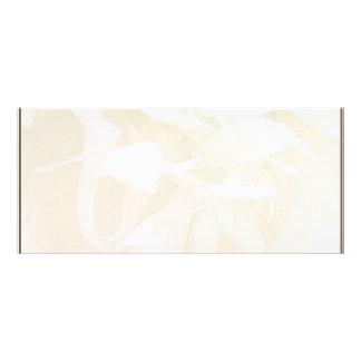 Creamy creative art work personalised rack card