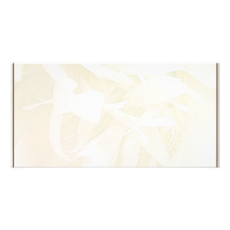Creamy creative art work personalized photo card