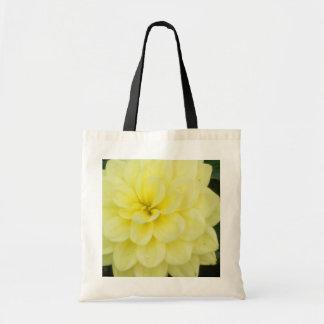 Creamy Dahlia Tote Bags