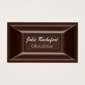 Creamy Dark Chocolate Chocolatier Business Cards