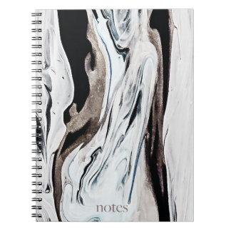 Creamy Marble Notebooks